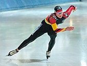 Subject: Claudia Pechstein; Tags: Sport, GER, Germany, Deutschland, Eisschnelllauf, Speed skating, Schaatsen, Damen, Ladies, Frau, Mesdames, Female, Women, Claudia Pechstein, Athlet, Athlete, Sportler, Wettkämpfer, Sportsman; PhotoID: 2003-10-18-061