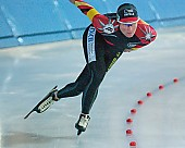 Subject: Claudia Pechstein; Tags: Sport, GER, Germany, Deutschland, Eisschnelllauf, Speed skating, Schaatsen, Damen, Ladies, Frau, Mesdames, Female, Women, Claudia Pechstein, Athlet, Athlete, Sportler, Wettkämpfer, Sportsman; PhotoID: 2003-10-18-062