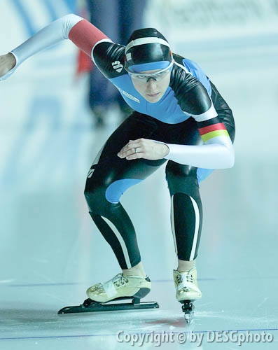 Anke Hartmann; Tags: Start, Starting, Sport, GER, Germany, Deutschland, Eisschnelllauf, Speed skating, Schaatsen, Ehemalige, Detail, Damen, Ladies, Frau, Mesdames, Female, Women, Athlet, Athlete, Sportler, Wettkämpfer, Sportsman, Anke Hartmann; PhotoID: 2006-01-06-0051
