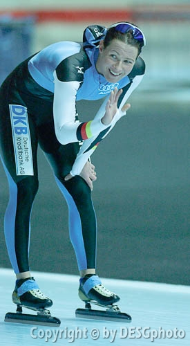 Claudia Pechstein; Tags: Sport, GER, Germany, Deutschland, Eisschnelllauf, Speed skating, Schaatsen, Damen, Ladies, Frau, Mesdames, Female, Women, Claudia Pechstein, Athlet, Athlete, Sportler, Wettkämpfer, Sportsman; PhotoID: 2006-01-06-0236