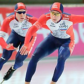 Subject: Aleksey Yesin, Igor Nefedjev; Tags: Sport, RUS, Russian Federation, Russische Föderation, Russia, Igor Nefedeyev, Herren, Men, Gentlemen, Mann, Männer, Gents, Sirs, Mister, Eisschnelllauf, Speed skating, Schaatsen, Athlet, Athlete, Sportler, Wettkämpfer, Sportsman, Aleksej Jesin; PhotoID: 2006-11-17-0375