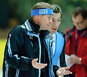 Subject: Bart Schouten, Jan Friesinger; Tags: Trainer, Coach, Betreuer, Sport, Jan Friesinger, Herren, Men, Gentlemen, Mann, Männer, Gents, Sirs, Mister, GER, Germany, Deutschland, Eisschnelllauf, Speed skating, Schaatsen, Bart Schouten, Athlet, Athlete, Sportler, Wettkämpfer, Sportsman; PhotoID: 2006-11-18-4328