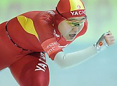 Subject: Shuang Zhang; Tags: Sport, Shuang Zhang, Eisschnelllauf, Speed skating, Schaatsen, Damen, Ladies, Frau, Mesdames, Female, Women, CHN, China, Volksrepublik China, Athlet, Athlete, Sportler, Wettkämpfer, Sportsman; PhotoID: 2007-12-15-0825