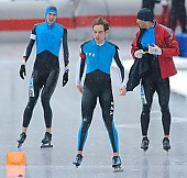 Subject: Denny Ihle, Ingo Bos, Marcel Spahn; Tags: Sport, NED, Netherlands, Niederlande, Holland, Dutch, Marcel Spahn, Ingo Bos, Herren, Men, Gentlemen, Mann, Männer, Gents, Sirs, Mister, GER, Germany, Deutschland, Eisschnelllauf, Speed skating, Schaatsen, Ehemalige, Denny Ihle, Athlet, Athlete, Sportler, Wettkämpfer, Sportsman; PhotoID: 2008-01-06-0212