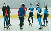Subject: Jörg Dallmann, Stefan Heythausen Trainingsbesprechung; Tags: Training, Preparation, Ausbildung, Vorbereitung, Breeding, Education, Stefan Heythausen, Sport, Shorttrack, Short Track, Jörg Dallmann, Herren, Men, Gentlemen, Mann, Männer, Gents, Sirs, Mister, Gruppenfoto, Group shot, Gruppe, Gruppenbild, Gruppenaufnahme, Group photo, GER, Germany, Deutschland, Eisschnelllauf, Speed skating, Schaatsen, Ehemalige, Detail, Athlet, Athlete, Sportler, Wettkämpfer, Sportsman; PhotoID: 2008-07-30-0029
