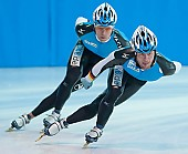 Subject: Jörg Dallmann, Samuel Schwarz; Tags: Training, Preparation, Ausbildung, Vorbereitung, Breeding, Education, Sport, Shorttrack, Short Track, Samuel Schwarz, Jörg Dallmann, Herren, Men, Gentlemen, Mann, Männer, Gents, Sirs, Mister, GER, Germany, Deutschland, Eisschnelllauf, Speed skating, Schaatsen, Detail, Athlet, Athlete, Sportler, Wettkämpfer, Sportsman; PhotoID: 2008-07-30-0147