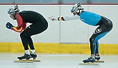Subject: Nico Ihle, Samuel Schwarz; Tags: Training, Preparation, Ausbildung, Vorbereitung, Breeding, Education, Sport, Shorttrack, Short Track, Samuel Schwarz, Nico Ihle, Herren, Men, Gentlemen, Mann, Männer, Gents, Sirs, Mister, GER, Germany, Deutschland, Eisschnelllauf, Speed skating, Schaatsen, Detail, Athlet, Athlete, Sportler, Wettkämpfer, Sportsman; PhotoID: 2008-07-30-0155