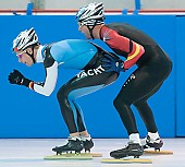 Subject: Nico Ihle, Stefan Heythausen; Tags: Training, Preparation, Ausbildung, Vorbereitung, Breeding, Education, Stefan Heythausen, Sport, Shorttrack, Short Track, Nico Ihle, Herren, Men, Gentlemen, Mann, Männer, Gents, Sirs, Mister, GER, Germany, Deutschland, Eisschnelllauf, Speed skating, Schaatsen, Ehemalige, Detail, Athlet, Athlete, Sportler, Wettkämpfer, Sportsman; PhotoID: 2008-07-30-0159