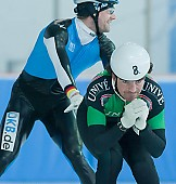 Subject: Bob de Jong, Tobias Schneider; Tags: Training, Preparation, Ausbildung, Vorbereitung, Breeding, Education, Tobias Schneider, Sport, Shorttrack, Short Track, NED, Netherlands, Niederlande, Holland, Dutch, Herren, Men, Gentlemen, Mann, Männer, Gents, Sirs, Mister, GER, Germany, Deutschland, Eisschnelllauf, Speed skating, Schaatsen, Detail, Bob de Jong, Athlet, Athlete, Sportler, Wettkämpfer, Sportsman; PhotoID: 2008-07-30-0241