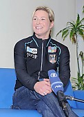 Subject: Claudia Pechstein im Interview; Tags: Sport, Pressekonferenz, Press conference, Media conference, Gesichter, Face, Close up, Antlitz, Konterfei, Visage, GER, Germany, Deutschland, Freude, Pleasure, Jubel, Lachen, Glücklich, Glück, Smile, Luck, Lucky, Emotion, Emotion, Gefühle, Empfindung, Sentiment, Feeling, Sensation, Passion, Eisschnelllauf, Speed skating, Schaatsen, Detail, Damen, Ladies, Frau, Mesdames, Female, Women, Claudia Pechstein, Athlet, Athlete, Sportler, Wettkämpfer, Sportsman; PhotoID: 2008-10-30-0031