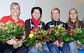 Subject: Anni Friesinger-Postma, Claudia Pechstein, Daniela Anschütz-Thoms, Jenny Wolf; Tags: Sport, Pressekonferenz, Press conference, Media conference, Jenny Wolf, Gruppenfoto, Group shot, Gruppe, Gruppenbild, Gruppenaufnahme, Group photo, Gesichter, Face, Close up, Antlitz, Konterfei, Visage, GER, Germany, Deutschland, Eisschnelllauf, Speed skating, Schaatsen, Ehemalige, Detail, Daniela Anschütz-Thoms, Damen, Ladies, Frau, Mesdames, Female, Women, Claudia Pechstein, Athlet, Athlete, Sportler, Wettkämpfer, Sportsman, Anna Christine Friesinger-Postma; PhotoID: 2008-10-30-0034