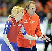Subject: Jacques Orie, Marianne Timmer; Tags: Trainer, Coach, Betreuer, Sport, NED, Netherlands, Niederlande, Holland, Dutch, Marianne Timmer, Jacques Orie, Gesichter, Face, Close up, Antlitz, Konterfei, Visage, Eisschnelllauf, Speed skating, Schaatsen, Detail, Damen, Ladies, Frau, Mesdames, Female, Women, Coaching, Athlet, Athlete, Sportler, Wettkämpfer, Sportsman; PhotoID: 2008-11-15-0685