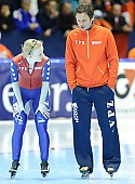 Subject: Jacques Orie, Marianne Timmer; Tags: Trainer, Coach, Betreuer, Sport, NED, Netherlands, Niederlande, Holland, Dutch, Marianne Timmer, Jacques Orie, Gesichter, Face, Close up, Antlitz, Konterfei, Visage, Eisschnelllauf, Speed skating, Schaatsen, Detail, Damen, Ladies, Frau, Mesdames, Female, Women, Coaching, Athlet, Athlete, Sportler, Wettkämpfer, Sportsman; PhotoID: 2008-11-15-0690