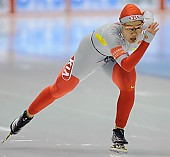Subject: Shuang Zhang; Tags: Sport, Shuang Zhang, Eisschnelllauf, Speed skating, Schaatsen, Damen, Ladies, Frau, Mesdames, Female, Women, CHN, China, Volksrepublik China, Athlet, Athlete, Sportler, Wettkämpfer, Sportsman; PhotoID: 2008-11-16-0006