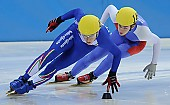 Subject: Peter Anderl, Roberto Anzi; Tags: Sport, Shorttrack, Short Track, Roberto Anzi, Peter Anderl, ITA, Italy, Italien, Herren, Men, Gentlemen, Mann, Männer, Gents, Sirs, Mister, GER, Germany, Deutschland, Athlet, Athlete, Sportler, Wettkämpfer, Sportsman; PhotoID: 2008-12-13-0078