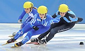 Subject: Elisa Lenke, Giulia Giordano, Rosalie Huisman; Tags: Sport, Shorttrack, Short Track, Rosalie Huisman, NED, Netherlands, Niederlande, Holland, Dutch, ITA, Italy, Italien, Giulia Giordano, GER, Germany, Deutschland, Elisa Lenke, Damen, Ladies, Frau, Mesdames, Female, Women, Athlet, Athlete, Sportler, Wettkämpfer, Sportsman; PhotoID: 2008-12-13-0100