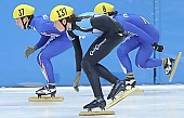 Subject: Koen Hakkenberg, Matteo Compagnoni; Tags: Sport, Shorttrack, Short Track, NED, Netherlands, Niederlande, Holland, Dutch, Matteo Compagnoni, Koen Hakkenberg, ITA, Italy, Italien, Herren, Men, Gentlemen, Mann, Männer, Gents, Sirs, Mister, Athlet, Athlete, Sportler, Wettkämpfer, Sportsman; PhotoID: 2008-12-13-0121