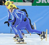 Subject: Julia Riedel; Tags: Start, Starting, Sport, Shorttrack, Short Track, Julia Riedel, GER, Germany, Deutschland, Detail, Damen, Ladies, Frau, Mesdames, Female, Women, Athlet, Athlete, Sportler, Wettkämpfer, Sportsman; PhotoID: 2008-12-13-0157