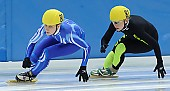 Subject: Anke Hartmann, Julia Riedel; Tags: Shorttrack, Short Track, Julia Riedel, GER, Germany, Deutschland, Ehemalige, Damen, Ladies, Frau, Mesdames, Female, Women, Athlet, Athlete, Sportler, Wettkämpfer, Sportsman, Anke Hartmann, Sport; PhotoID: 2008-12-13-0173