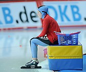 Subject: Britta Herlitz; Tags: Start, Starting, Sport, Konzentration, Concentration, Aufmerksamkeit, Fokussierung, Focus, GER, Germany, Deutschland, Emotion, Emotion, Gefühle, Empfindung, Sentiment, Feeling, Sensation, Passion, Eisschnelllauf, Speed skating, Schaatsen, Detail, Damen, Ladies, Frau, Mesdames, Female, Women, Britta Herlitz, Athlet, Athlete, Sportler, Wettkämpfer, Sportsman; PhotoID: 2008-12-19-0014