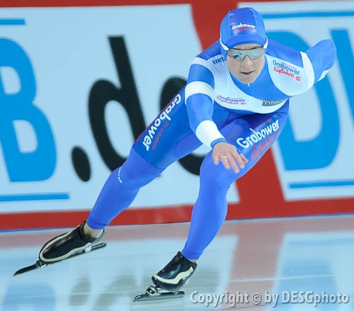 Claudia Pechstein; Tags: Sport, GER, Germany, Deutschland, Eisschnelllauf, Speed skating, Schaatsen, Damen, Ladies, Frau, Mesdames, Female, Women, Claudia Pechstein, Athlet, Athlete, Sportler, Wettkämpfer, Sportsman; PhotoID: 2008-12-19-0138