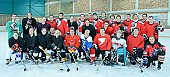 Subject: Gruppenbild mit Dame(n); Tags: Sport, Gruppenfoto, Group shot, Gruppe, Gruppenbild, Gruppenaufnahme, Group photo, Freundschaftsspiel, Eisschnelllauf, Speed skating, Schaatsen, Eishockey, Icehockey, Detail; PhotoID: 2008-12-31-0252