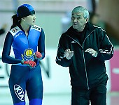 Motiv: Natalja Rybakova; Tags: Sport, Natalja Rybakova, KAZ, Kazakhstan, Kasachstan, Gesichter, Face, Close up, Antlitz, Konterfei, Visage, Eisschnelllauf, Speed skating, Schaatsen, Detail, Damen, Ladies, Frau, Mesdames, Female, Women, Coaching, Athlet, Athlete, Sportler, Wettkämpfer, Sportsman; PhotoID: 2009-01-30-0256