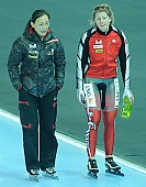 Subject: Kerry Dankers, Xiuli Wang; Tags: Xiuli Wang, Trainer, Coach, Betreuer, Sport, Kerry Dankers, Eisschnelllauf, Speed skating, Schaatsen, Detail, Damen, Ladies, Frau, Mesdames, Female, Women, Coaching, CHN, China, Volksrepublik China, CAN, Canada, Kanada, Athlet, Athlete, Sportler, Wettkämpfer, Sportsman; PhotoID: 2009-02-01-0062