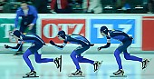 Subject: Aleksej Bondartsjuk, Fedor Mezentsev, Jevgenij Nazarenko; Tags: Team, Team Pursuit, Mannschaftslauf, Verfolgungsrennen, Jagdrennen, Mannschaftsverfolgung, Teamverfolgung, Sport, KAZ, Kazakhstan, Kasachstan, Jevgenij Nazarenko, Herren, Men, Gentlemen, Mann, Männer, Gents, Sirs, Mister, Fjodor Mezentsev, Eisschnelllauf, Speed skating, Schaatsen, Detail, Athlet, Athlete, Sportler, Wettkämpfer, Sportsman, Aleksej Bondartsjuk; PhotoID: 2009-02-01-0489