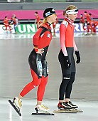 Subject: Anna Rokita, Lucille Weber; Tags: Sport, Lucille Weber, GER, Germany, Deutschland, Eisschnelllauf, Speed skating, Schaatsen, Ehemalige, Damen, Ladies, Frau, Mesdames, Female, Women, Athlet, Athlete, Sportler, Wettkämpfer, Sportsman, Anna Rokita, AUT, Austria, Österreich; PhotoID: 2009-02-06-0061