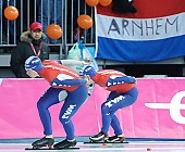 Subject: Paulien van Deutekom, Renate Groenewold; Tags: Sport, Renate Groenewold, Paulien van Deutekom, NED, Netherlands, Niederlande, Holland, Dutch, Eisschnelllauf, Speed skating, Schaatsen, Damen, Ladies, Frau, Mesdames, Female, Women, Athlet, Athlete, Sportler, Wettkämpfer, Sportsman; PhotoID: 2009-02-07-1546
