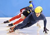 Subject: Anthony Lobello; Tags: USA, United States, Vereinigte Staaten von Amerika, Sport, Shorttrack, Short Track, Herren, Men, Gentlemen, Mann, Männer, Gents, Sirs, Mister, Athlet, Athlete, Sportler, Wettkämpfer, Sportsman, Anthony Lobello; PhotoID: 2009-02-13-0207
