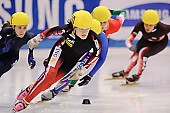 Subject: Kimberly Derrick, Valerie Lambert; Tags: Valerie Lambert, USA, United States, Vereinigte Staaten von Amerika, Sport, Shorttrack, Short Track, Kimberly Derrick, Damen, Ladies, Frau, Mesdames, Female, Women, CAN, Canada, Kanada, Athlet, Athlete, Sportler, Wettkämpfer, Sportsman; PhotoID: 2009-02-13-0782