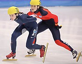 Subject: Aika Klein, Kimberly Derrick; Tags: Sport, Shorttrack, Short Track, Kimberly Derrick, GER, Germany, Deutschland, Ehemalige, Damen, Ladies, Frau, Mesdames, Female, Women, Athlet, Athlete, Sportler, Wettkämpfer, Sportsman, Aika Klein, USA, United States, Vereinigte Staaten von Amerika; PhotoID: 2009-02-13-1391