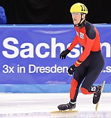 Subject: Sebastian Praus; Tags: Zieleinlauf, Finish, Abschliessen, Beenden, Ende, Schluss, Endspurt, Abschluss, Schlußphase, Final, Closing, Ending, End, Sport, Shorttrack, Short Track, Sebastian Praus, Herren, Men, Gentlemen, Mann, Männer, Gents, Sirs, Mister, Gesichter, Face, Close up, Antlitz, Konterfei, Visage, GER, Germany, Deutschland, Detail, Athlet, Athlete, Sportler, Wettkämpfer, Sportsman; PhotoID: 2009-02-13-1588