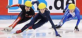 Subject: Kimberly Derrick, Marina Georgiewa-Nikolowa; Tags: USA, United States, Vereinigte Staaten von Amerika, Sport, Shorttrack, Short Track, Marina Georgiewa-Nikolowa, Kimberly Derrick, Damen, Ladies, Frau, Mesdames, Female, Women, BUL, Bulgaria, Bulgarien, Athlet, Athlete, Sportler, Wettkämpfer, Sportsman; PhotoID: 2009-02-13-1859