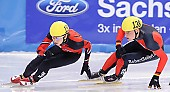 Subject: Robert Seifert, Satoshi Sakashita; Tags: Sport, Shorttrack, Short Track, Satoshi Sakashita, Robert Seifert, JPN, Japan, Nippon, Herren, Men, Gentlemen, Mann, Männer, Gents, Sirs, Mister, GER, Germany, Deutschland, Athlet, Athlete, Sportler, Wettkämpfer, Sportsman; PhotoID: 2009-02-14-0170