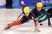 Subject: Anthony Lobello, François Hamelin; Tags: USA, United States, Vereinigte Staaten von Amerika, Sport, Shorttrack, Short Track, Herren, Men, Gentlemen, Mann, Männer, Gents, Sirs, Mister, François Hamelin, CAN, Canada, Kanada, Athlet, Athlete, Sportler, Wettkämpfer, Sportsman, Anthony Lobello; PhotoID: 2009-02-14-0224