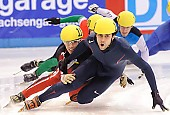 Subject: Anthony Lobello, François Hamelin; Tags: USA, United States, Vereinigte Staaten von Amerika, Sport, Shorttrack, Short Track, Herren, Men, Gentlemen, Mann, Männer, Gents, Sirs, Mister, François Hamelin, CAN, Canada, Kanada, Athlet, Athlete, Sportler, Wettkämpfer, Sportsman, Anthony Lobello; PhotoID: 2009-02-14-0233