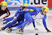 Subject: Alex Boisvert-Lacroix, Nicola Rodigari; Tags: Sport, Shorttrack, Short Track, Nicola Rodigari, ITA, Italy, Italien, Herren, Men, Gentlemen, Mann, Männer, Gents, Sirs, Mister, CAN, Canada, Kanada, Athlet, Athlete, Sportler, Wettkämpfer, Sportsman, Alex Boisvert-Lacroix; PhotoID: 2009-02-14-0312