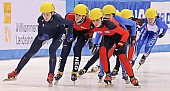 Subject: Annita van Doorn, Bianca Walter, Kimberly Derrick; Tags: USA, United States, Vereinigte Staaten von Amerika, Sport, Shorttrack, Short Track, NED, Netherlands, Niederlande, Holland, Dutch, Kimberly Derrick, GER, Germany, Deutschland, Damen, Ladies, Frau, Mesdames, Female, Women, Bianca Walter, Athlet, Athlete, Sportler, Wettkämpfer, Sportsman, Annita van Doorn; PhotoID: 2009-02-14-0382