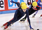 Subject: Kimberly Derrick; Tags: USA, United States, Vereinigte Staaten von Amerika, Sport, Shorttrack, Short Track, Kimberly Derrick, Damen, Ladies, Frau, Mesdames, Female, Women, Athlet, Athlete, Sportler, Wettkämpfer, Sportsman; PhotoID: 2009-02-14-0405