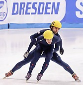Subject: Anthony Lobello, Jeff Simon; Tags: USA, United States, Vereinigte Staaten von Amerika, Sport, Shorttrack, Short Track, Jeff Simon, Herren, Men, Gentlemen, Mann, Männer, Gents, Sirs, Mister, Athlet, Athlete, Sportler, Wettkämpfer, Sportsman, Anthony Lobello; PhotoID: 2009-02-15-1752