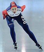 Subject: Elena Sokhryakova; Tags: Sport, RUS, Russian Federation, Russische Föderation, Russia, Jelena Sokhrjakova, Eisschnelllauf, Speed skating, Schaatsen, Damen, Ladies, Frau, Mesdames, Female, Women, Athlet, Athlete, Sportler, Wettkämpfer, Sportsman; PhotoID: 2009-02-28-0587