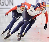Subject: Elena Sokhryakova, Evgeniya Lalenkova, Olga Fatkulina; Tags: Team, Team Pursuit, Mannschaftslauf, Verfolgungsrennen, Jagdrennen, Mannschaftsverfolgung, Teamverfolgung, Sport, RUS, Russian Federation, Russische Föderation, Russia, Olga Fatkulina, Jevgenija Dmitrijeva, Jelena Sokhrjakova, Eisschnelllauf, Speed skating, Schaatsen, Detail, Damen, Ladies, Frau, Mesdames, Female, Women, Athlet, Athlete, Sportler, Wettkämpfer, Sportsman; PhotoID: 2009-03-01-0498