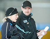 Subject: André Hoffmann, Charleen Marhold; Tags: Trainer, Coach, Betreuer, Sport, GER, Germany, Deutschland, Eisschnelllauf, Speed skating, Schaatsen, Ehemalige, Detail, Damen, Ladies, Frau, Mesdames, Female, Women, Coaching, Charleen Marhold, Athlet, Athlete, Sportler, Wettkämpfer, Sportsman, André Hoffmann; PhotoID: 2009-10-10-0474