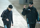 Subject: André Hoffmann, Charleen Marhold; Tags: Trainer, Coach, Betreuer, Sport, GER, Germany, Deutschland, Eisschnelllauf, Speed skating, Schaatsen, Ehemalige, Detail, Damen, Ladies, Frau, Mesdames, Female, Women, Coaching, Charleen Marhold, Athlet, Athlete, Sportler, Wettkämpfer, Sportsman, André Hoffmann; PhotoID: 2009-10-10-0480