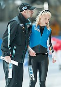 Subject: André Hoffmann, Charleen Marhold; Tags: Trainer, Coach, Betreuer, Sport, GER, Germany, Deutschland, Eisschnelllauf, Speed skating, Schaatsen, Ehemalige, Damen, Ladies, Frau, Mesdames, Female, Women, Charleen Marhold, Athlet, Athlete, Sportler, Wettkämpfer, Sportsman, André Hoffmann; PhotoID: 2009-10-10-0688