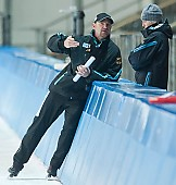 Subject: André Hoffmann, Dominique Thomas; Tags: Trainer, Coach, Betreuer, Sport, GER, Germany, Deutschland, Eisschnelllauf, Speed skating, Schaatsen, Ehemalige, Dominique Thomas, Detail, Damen, Ladies, Frau, Mesdames, Female, Women, Coaching, Athlet, Athlete, Sportler, Wettkämpfer, Sportsman, André Hoffmann; PhotoID: 2009-10-10-0690