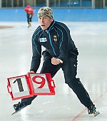 Subject: André Unterdörfel; Tags: Trainer, Coach, Betreuer, Sport, GER, Germany, Deutschland, Eisschnelllauf, Speed skating, Schaatsen, Detail, Coaching, André Unterdörfel; PhotoID: 2009-10-10-0865